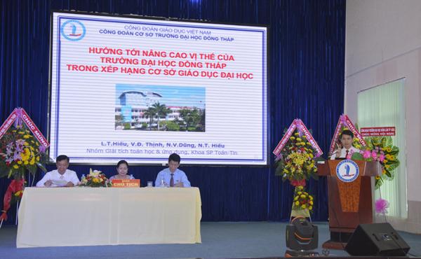 Đại hội đại biểu Công đoàn cơ sở Trường Đại học Đồng Tháp lần thứ XIX, nhiệm kỳ 2017 - 20223