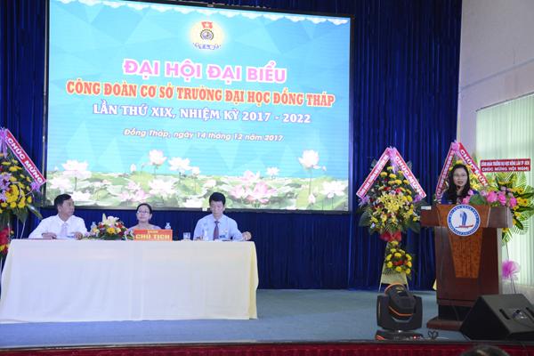 Đại hội đại biểu Công đoàn cơ sở Trường Đại học Đồng Tháp lần thứ XIX, nhiệm kỳ 2017 - 20225